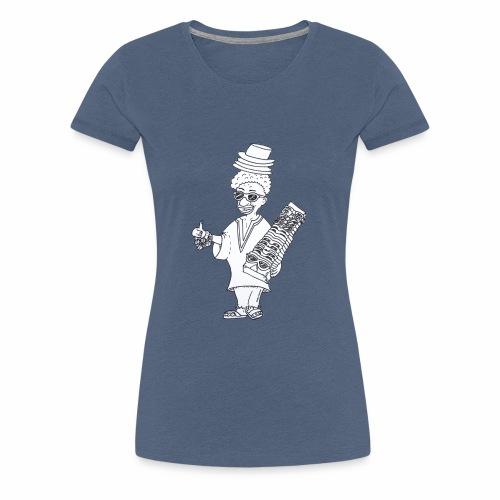 Hallo Helmut Mallorca (Schwarz-Weiß) - Frauen Premium T-Shirt