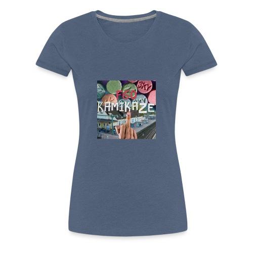 F60 Kamikaze Pillen, Mittelfinger, Bahnhof - Frauen Premium T-Shirt