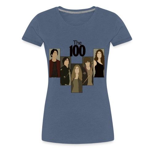The 100. Personajes - Camiseta premium mujer
