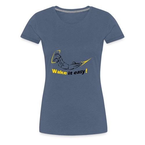 Wake it easy schwarz gelb - Frauen Premium T-Shirt