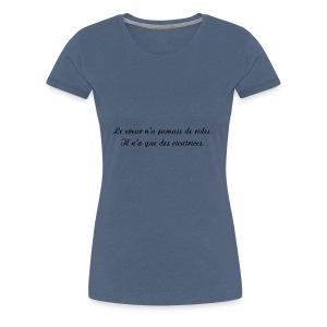 Le coeur n a jamais de rides - T-shirt Premium Femme