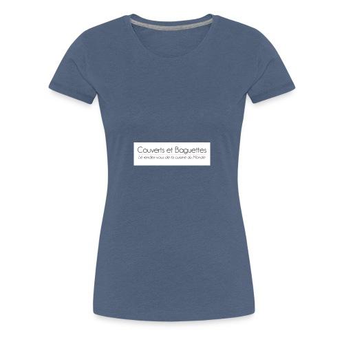 Couverts et Baguettes - T-shirt Premium Femme