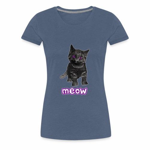 Katze Schwarz - Frauen Premium T-Shirt