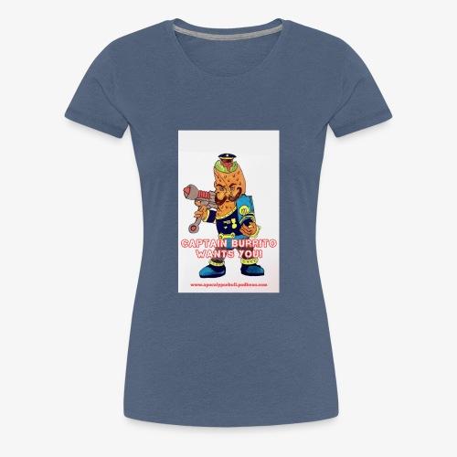 Captain Burrito - Women's Premium T-Shirt