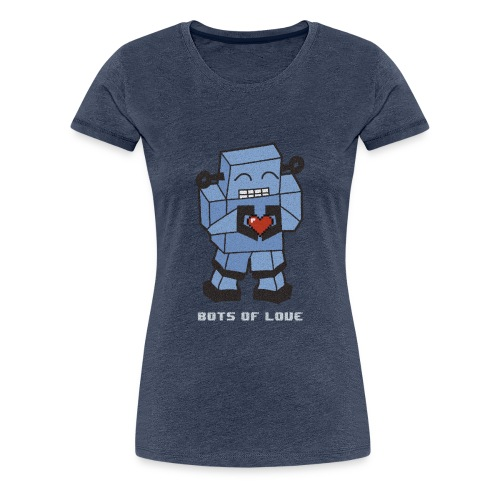 Bots of love grunge - Women's Premium T-Shirt