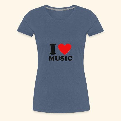i love music - Women's Premium T-Shirt