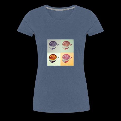 Kaffee in vier Jahreszeiten - Frauen Premium T-Shirt