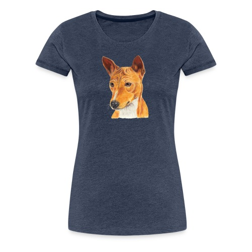 Basenji - Dame premium T-shirt