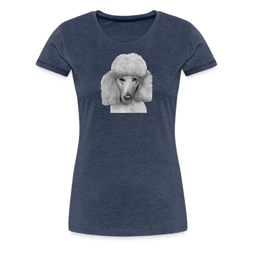 storpudel abrikos - Dame premium T-shirt
