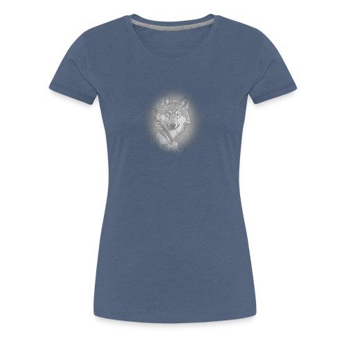 Médaillon Loup - T-shirt Premium Femme