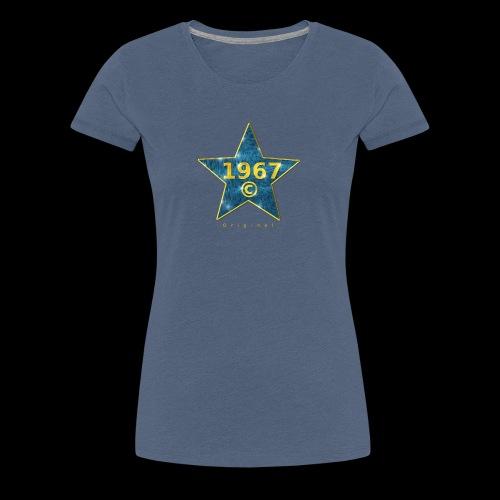 Star blau Jahrgangs-T-Shirt, jede Jahreszahl - Frauen Premium T-Shirt