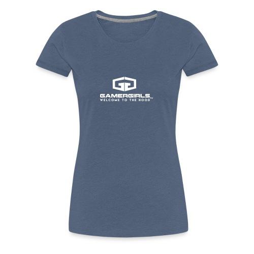 GamerGirlstvLogoD White - Frauen Premium T-Shirt