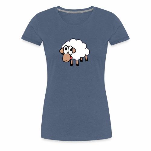 Sheep Cartoon - Vrouwen Premium T-shirt