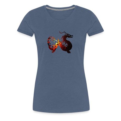 Flammendrache - Frauen Premium T-Shirt