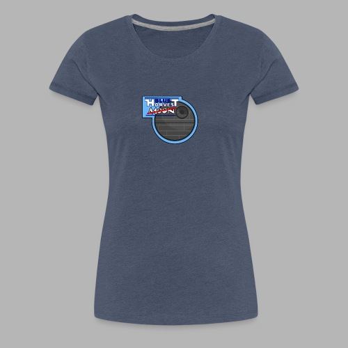Blue Harvest Moon - Design - Frauen Premium T-Shirt