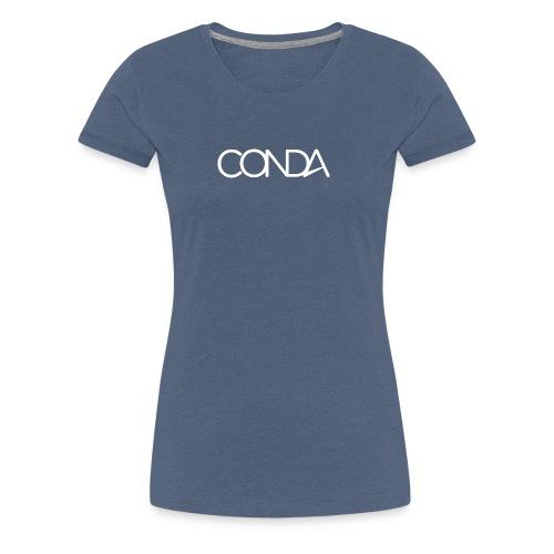 CONDA LOGO weiss - Frauen Premium T-Shirt