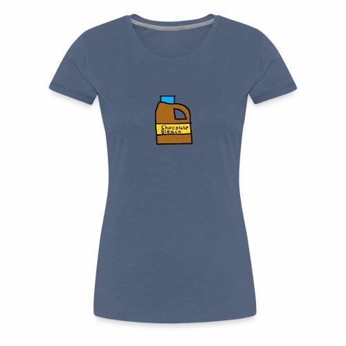 Chocolate Bleach Handrawn - Women's Premium T-Shirt