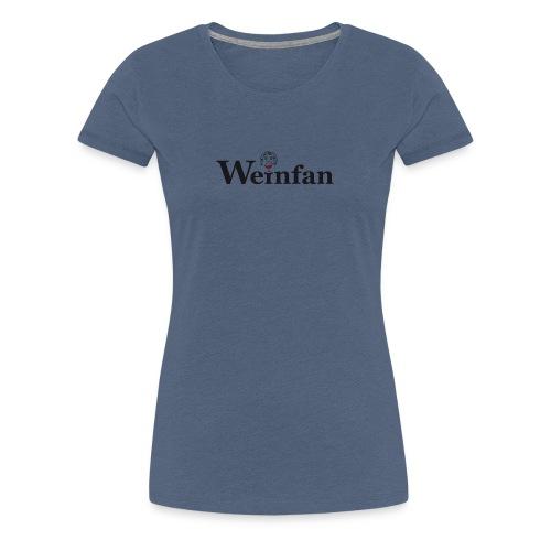 Weinfan Bacchus mit Glas - Frauen Premium T-Shirt
