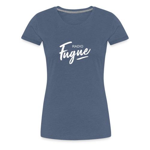 Radio Fugue Blanc - T-shirt Premium Femme