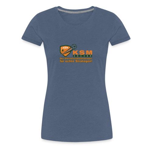 KSM-Soccer Logo groß - Frauen Premium T-Shirt