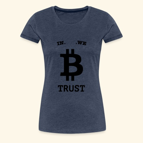BITCOIN langwerpig - Vrouwen Premium T-shirt