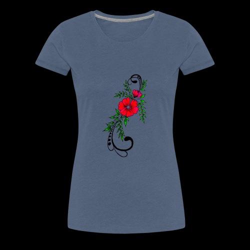 flower art - Women's Premium T-Shirt