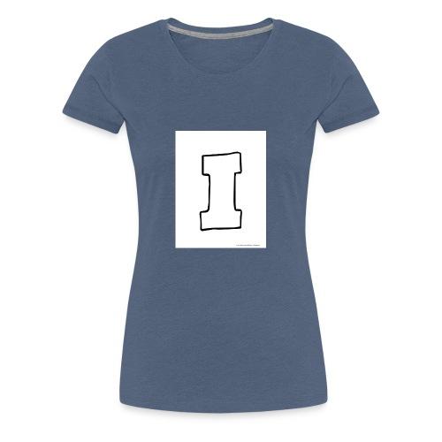 Isaac The Letter I - Women's Premium T-Shirt