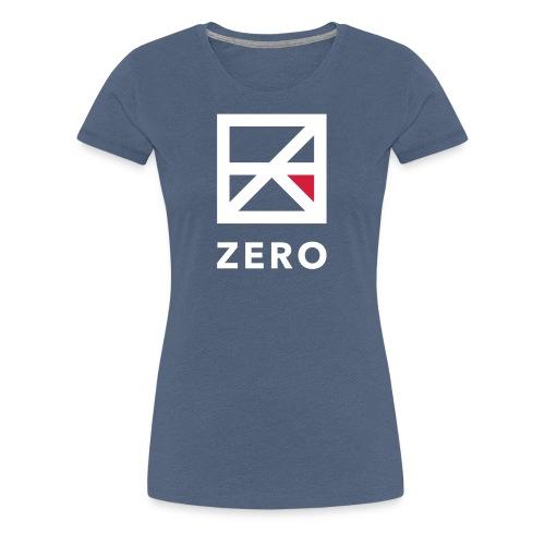 Zero logo wit cmyk - Vrouwen Premium T-shirt