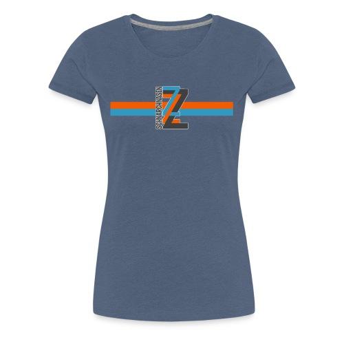 ZZZ BlauOrange - Frauen Premium T-Shirt