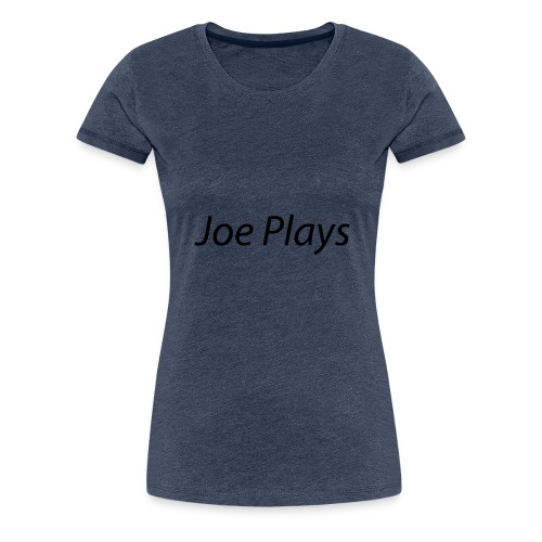 Joe Plays Black logo - Premium T-skjorte for kvinner