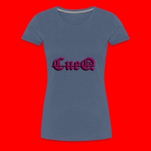 CueQ logo - Premium-T-shirt dam