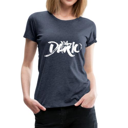 illustration logo blanc - T-shirt Premium Femme