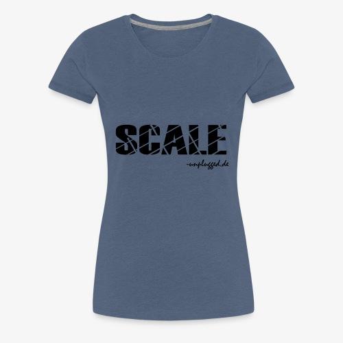 SCALE Logo schwarz - Frauen Premium T-Shirt