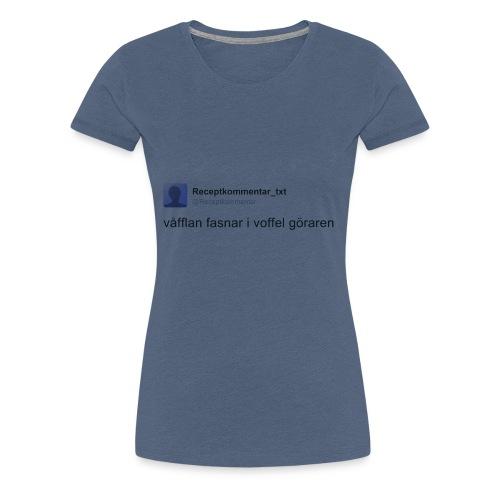 Voffel goraren - Premium-T-shirt dam