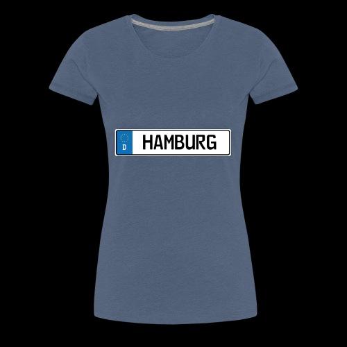 Kennzeichen Hamburg - Frauen Premium T-Shirt
