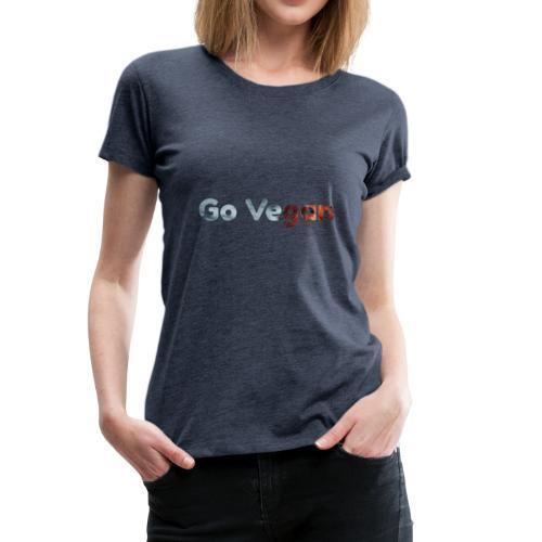 Go vegan nature - T-shirt Premium Femme