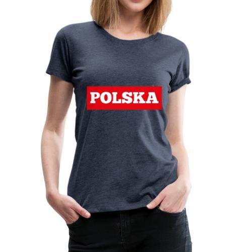 Polska-Poland - Frauen Premium T-Shirt