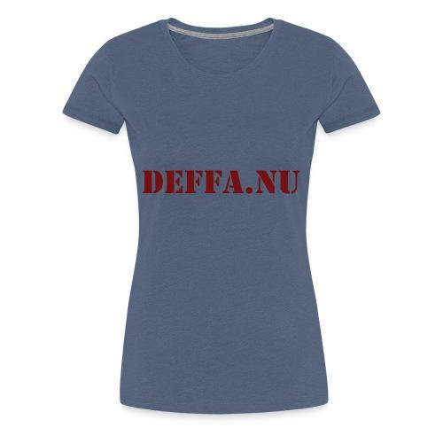 Deffa.nu - Premium-T-shirt dam