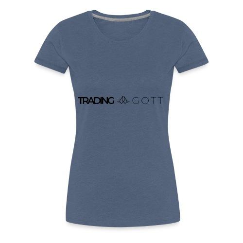 TRADINGGOTT Logo schwarz - Frauen Premium T-Shirt