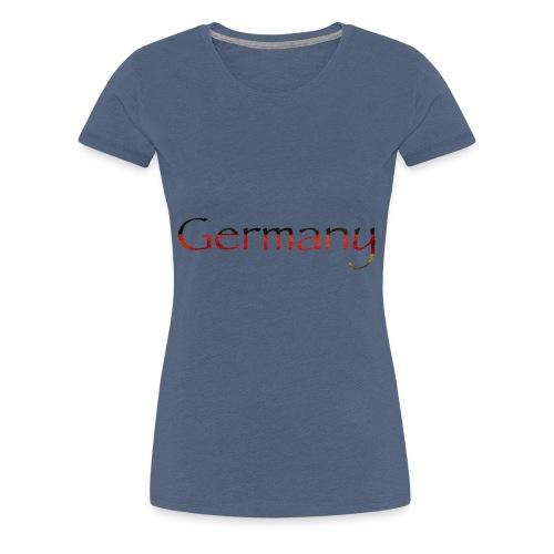 Deutschland Schriftzug Horizontal - Frauen Premium T-Shirt