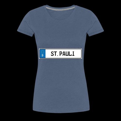 Kennzeichen St.Pauli - Frauen Premium T-Shirt