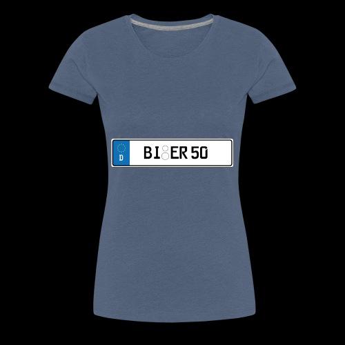 Kennzeichen Bier - Frauen Premium T-Shirt