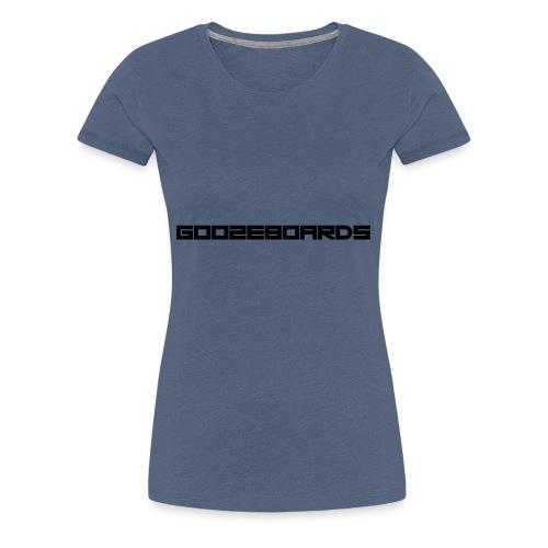 GOOZEBOARDS LETTERS - Vrouwen Premium T-shirt