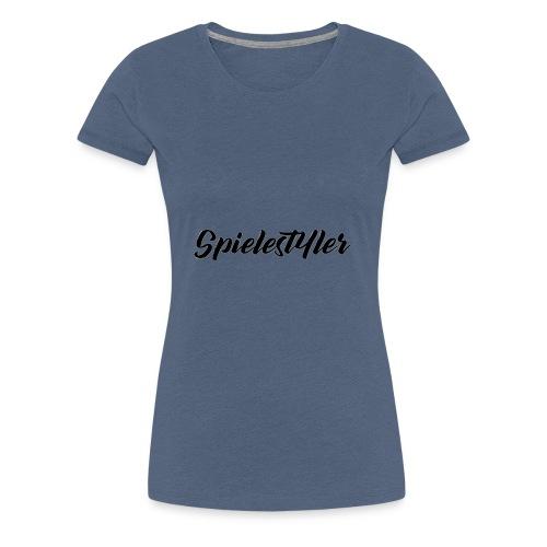 Spielestyler Schriftzug - Frauen Premium T-Shirt
