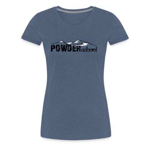 Powderschool Logo schwarz - Frauen Premium T-Shirt