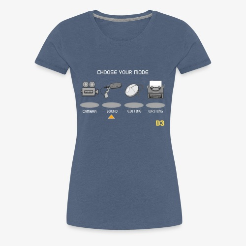 Sound/White - Choose Your Mode - Women's Premium T-Shirt