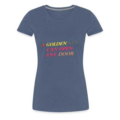 Say in English with 3D effect - Women's Premium T-Shirt