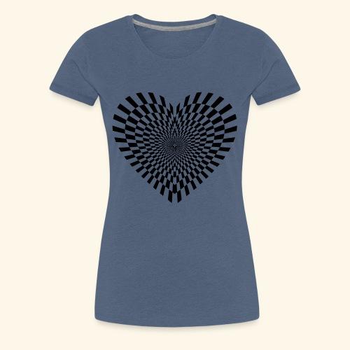 Dimensionales Herz - Frauen Premium T-Shirt