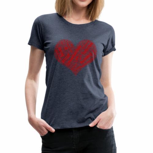 Muenchen Stadtteile Herz - Frauen Premium T-Shirt