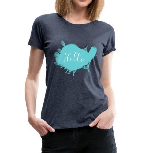 Madame Krax - Hello blau - Frauen Premium T-Shirt